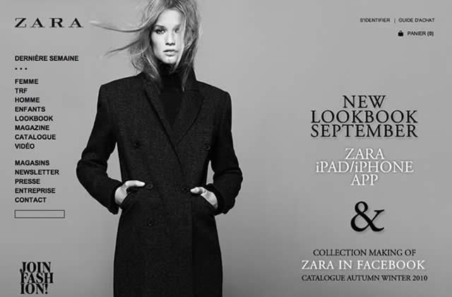 Zara : sa e-boutique est en ligne !