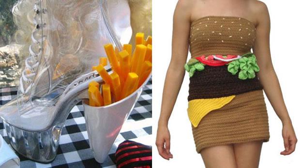 chaussure cornet de frites robe hamburger