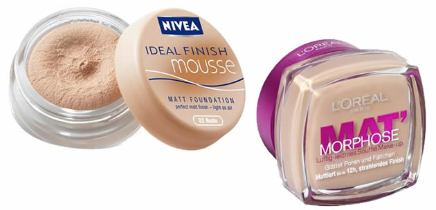 fonds de teint mousses nivea mat morphose
