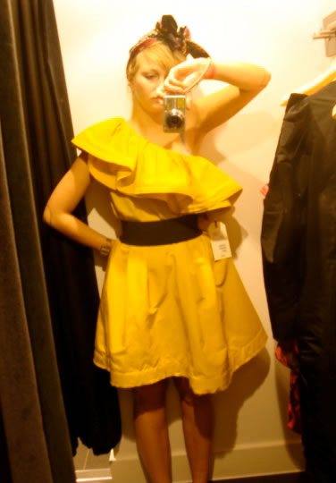 hm lanvin robe jaune