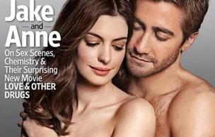 Lien permanent vers Jake Gyllenhaal et Anne Hathaway posent ensemble et à moitié nu
