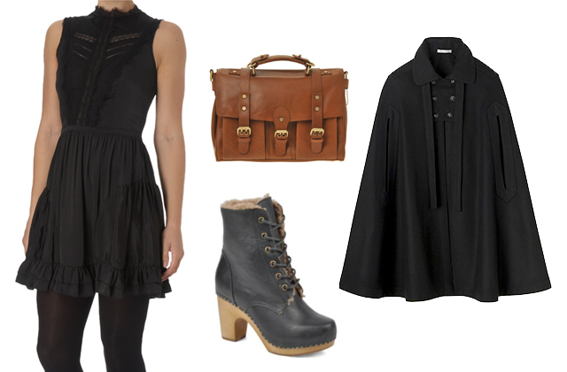 robe cartable cape chaussures
