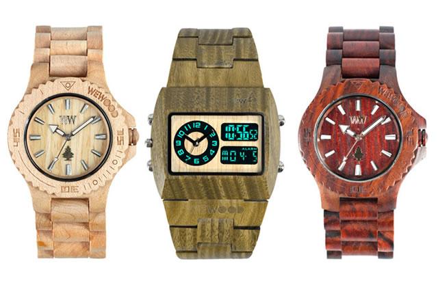 Les montres en bois de chez Wewood