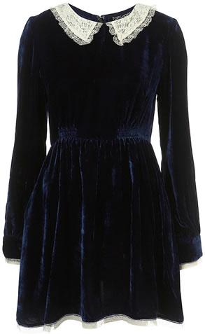 robe velours topshop