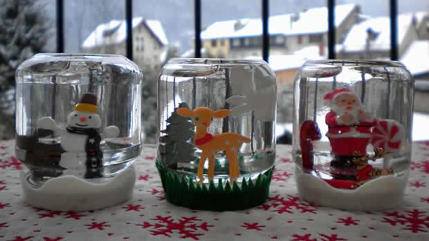 Tuto Déco Noël La boule à neige faite maison bouleneige 7