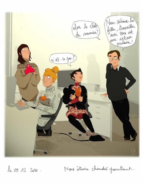 Militons pour la bouillotte   Le dessin de Caroline (+ petit bonus) caroline dessin chaudes
