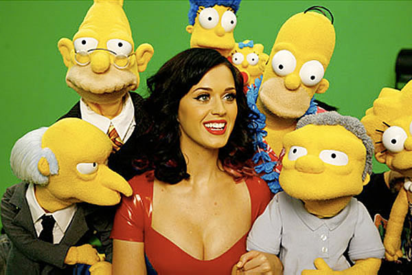 Katy Perry en robe latex chez les Simpson katy perry simpsons