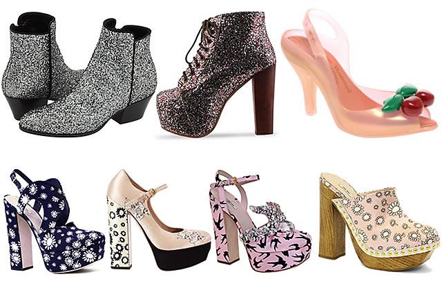 Plastique, paillettes, petites fleurs : tendance chaussures régressives
