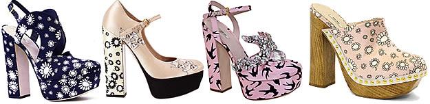 miu miu sandales sabots Plastique, paillettes, petites fleurs : tendance chaussures régressives