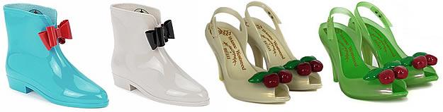 westwood melissa anglomania Plastique, paillettes, petites fleurs : tendance chaussures régressives