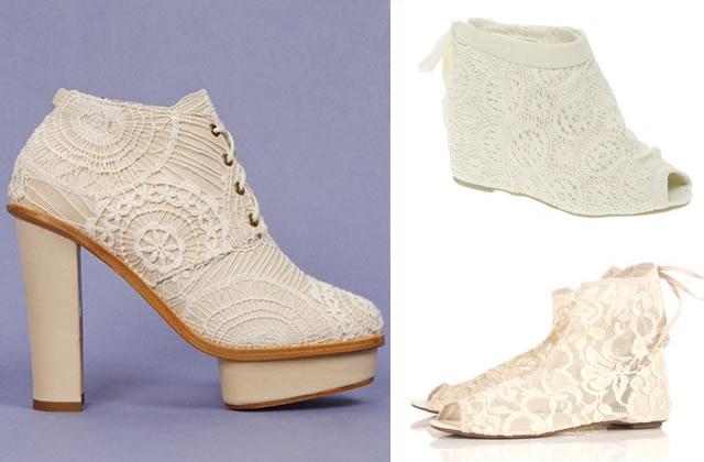 La chaussure dentelle : boucherie ou sorcellerie ? chaussures dentelle