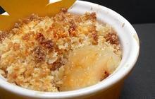 Recette du crumble de poire amande/sirop d'érable
