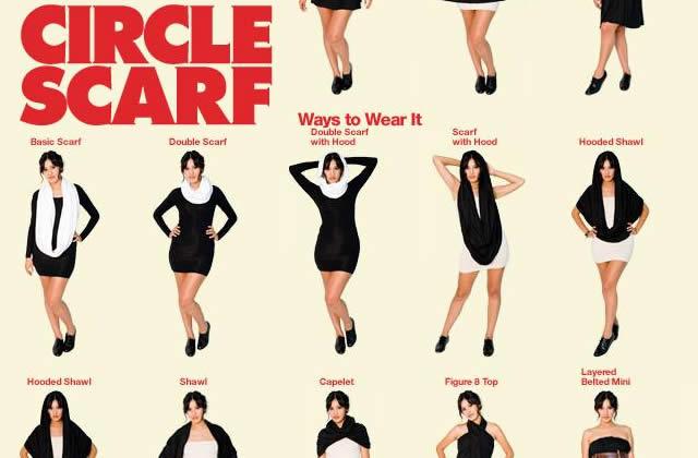 Le Circle Scarf de chez American Apparel