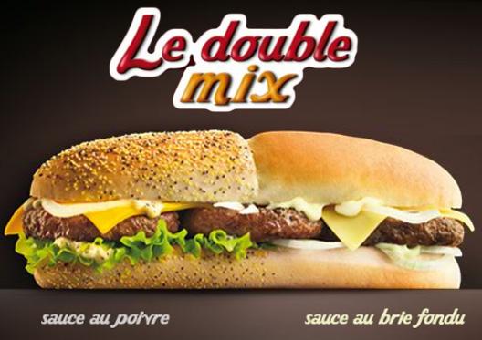 double mix big1 Grâce au Double Mix de Quick, on est enfin célèbres !