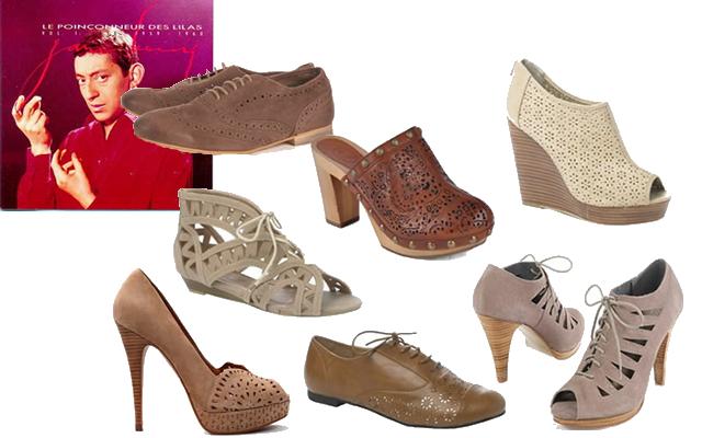 Gainsbourg en looks et en chansons poinçonneur chaussures ajourées
