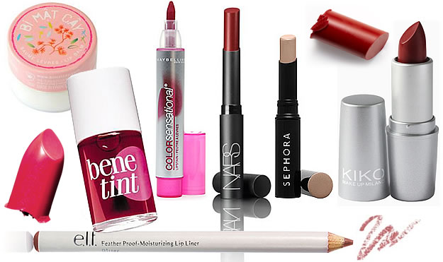 sélection rouges à lèvres mats