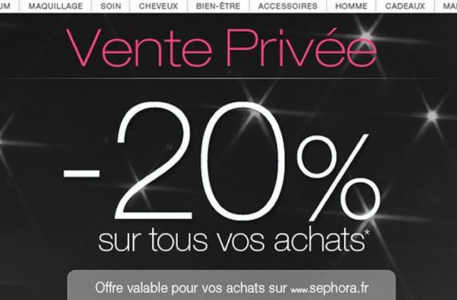 C'est l'heure des ventes privées chez Sephora