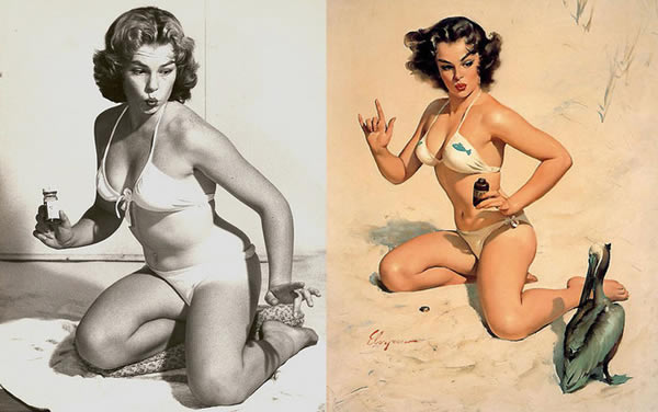 Lorigine des dessins de pin ups en photo pinup photoshop 1