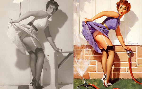 Lorigine des dessins de pin ups en photo pinup photoshop 2