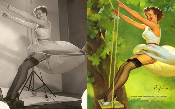 Lorigine des dessins de pin ups en photo pinup photoshop 3