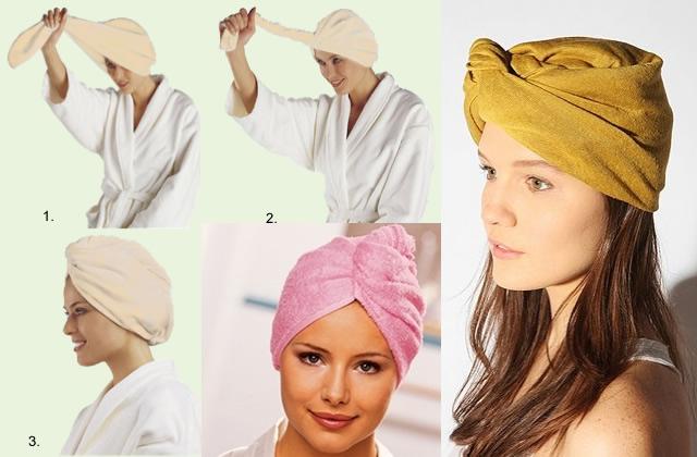 turban serviette de bain Mardi, Pas Permis : détournements de chapeaux