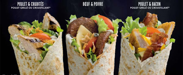 wrap Nouveau chez Mc Donalds : le menu McWrap