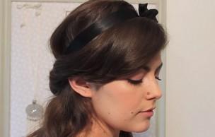 Lien permanent vers Tuto – Coiffure romantique avec cheveux semi attachés