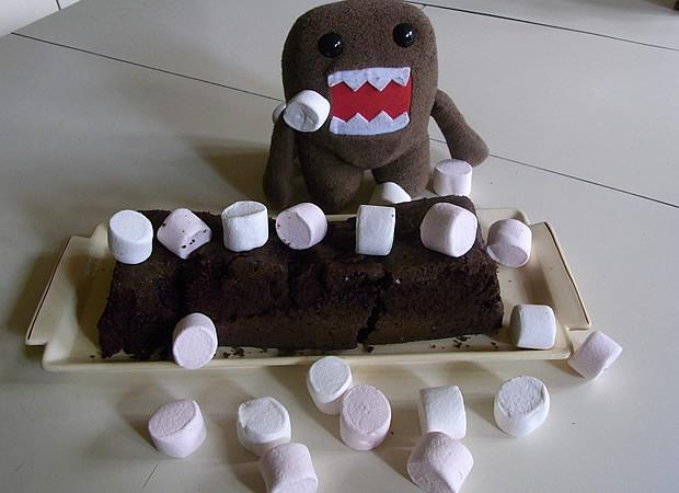 Recette   Le gâteau choco chamallows gateauchocochamallow