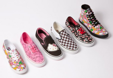 Vans et Hello Kitty lancent une collection de chaussures vans hello kitty7 450x311