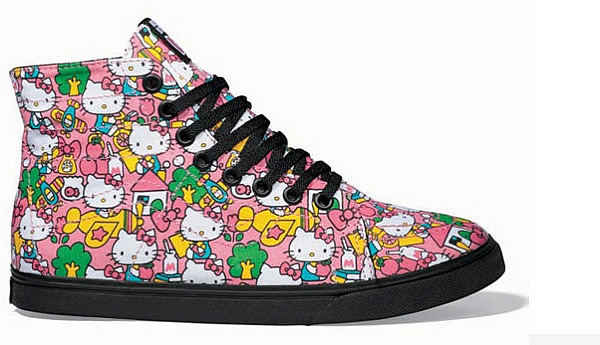 Vans et Hello Kitty lancent une collection de chaussures vans x hello kitty