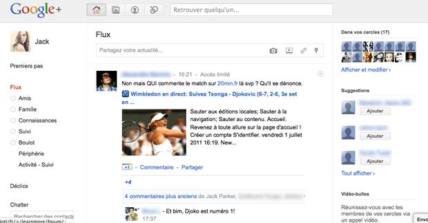 screen google plus 1 Google+ est arrivé !... et on ny comprend rien
