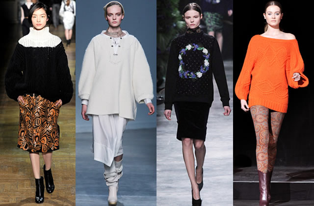 Tendances Mode Automne Hiver 2011 2012 PullLoose ermanno scervino vanessabruno givenchy pauljoe