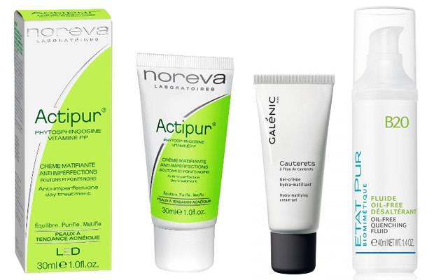 soins matifiants pour peau grasse