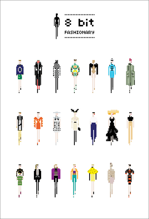6005290788 6bdeabeeb0 b Des silhouettes de mode en 8 bit par Fashionary