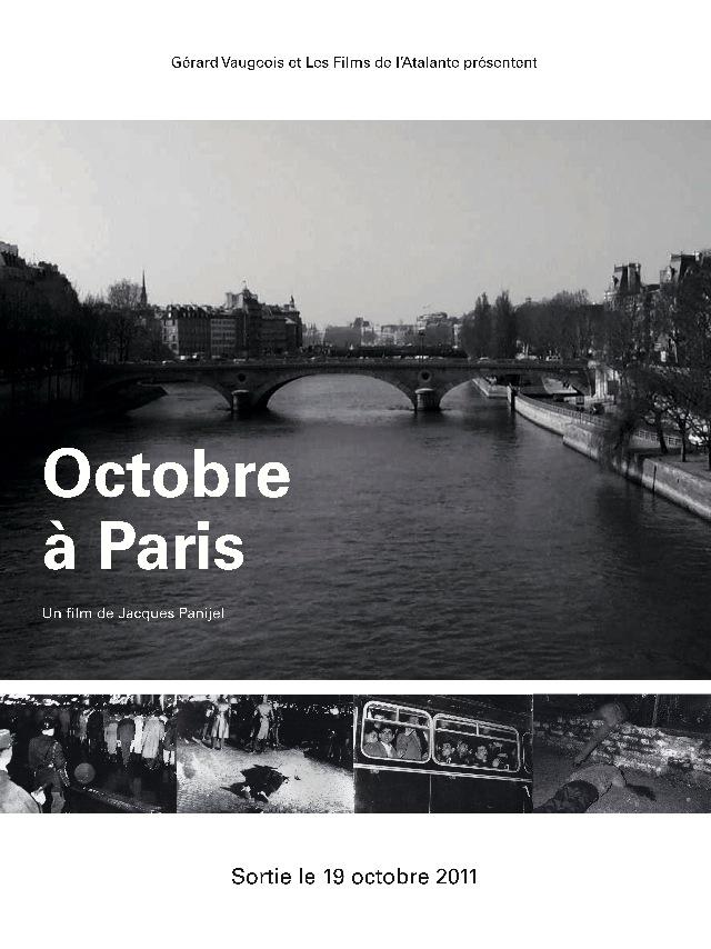 Octobre à Paris, projeté au festival de Mediapart Affiche octobre a paris
