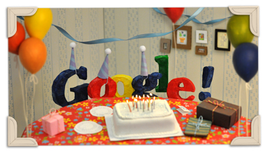 13 ans de Doodle Google Googles 13th Birthday 2011 hp