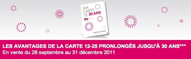 Image 22 SNCF : venez profitez de la carte 12/30 !