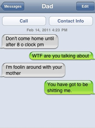 Parents Shouldnt Text : les SMS parents enfants les plus drôles Image 71