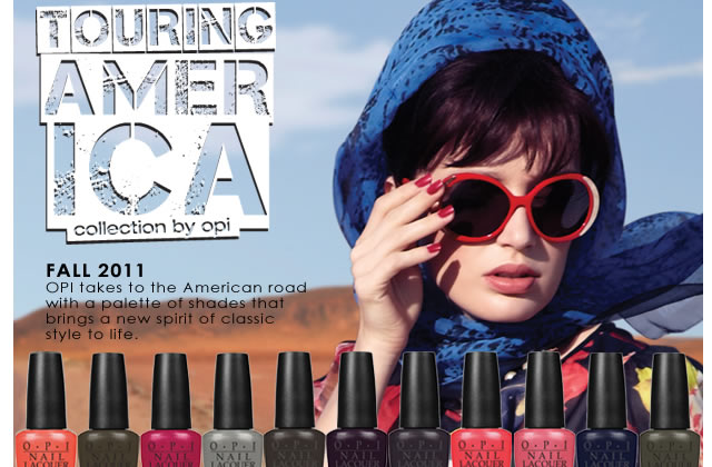 Touring America, la collection OPI automne 2011