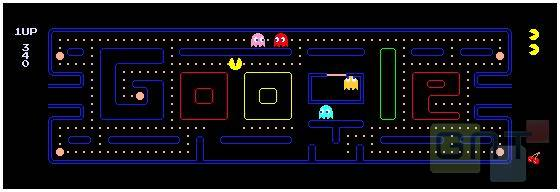 google pacman logo 09023000C000619281 13 ans de Doodle Google