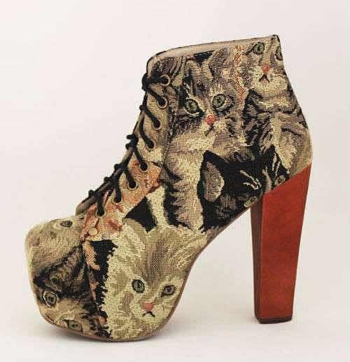 jeffrey campbell lita cats tapestry Les Lita chatons de Jeffrey Campbell