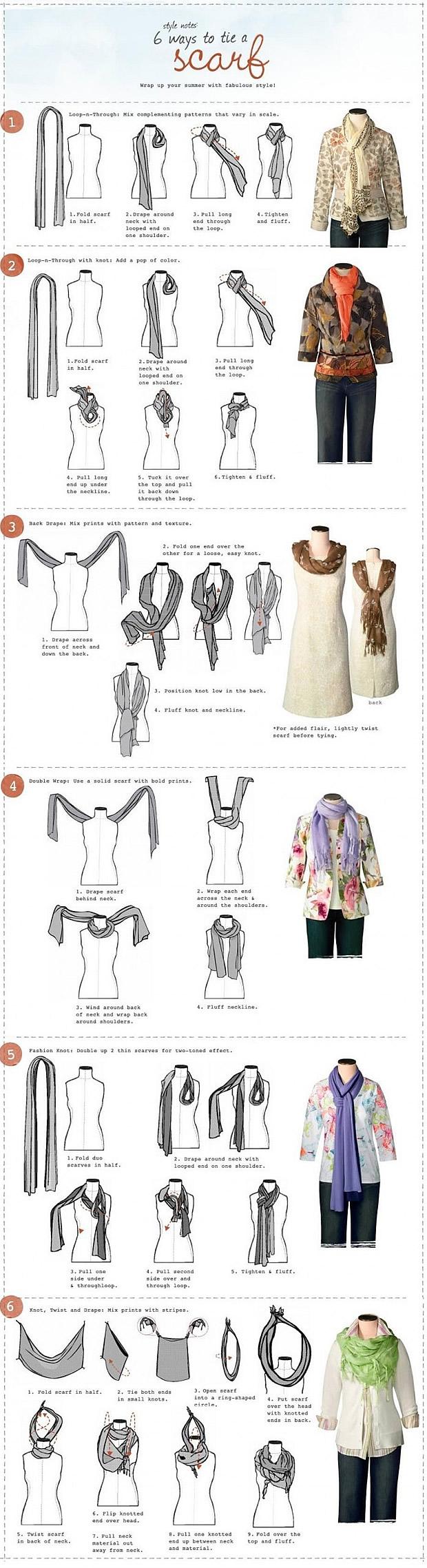 nouer son foulard1 6 manières de nouer son foulard