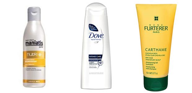 Bon shampoing cheveux secs