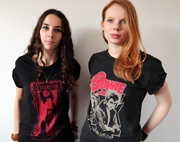 t shirt rock femme zara