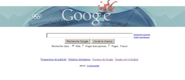 13 ans de Doodle Google vancouver 2010