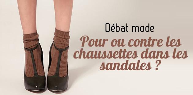 Pour ou contre les chaussettes dans les sandales ?