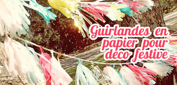 Guirlandes en papier coloré pour déco festive