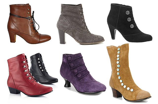 Bottines victoriennes – Tendance Chaussures Automne Hiver 2011 2012