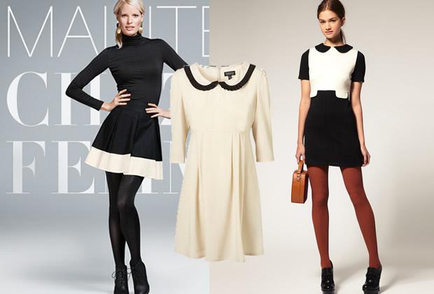 Comment accessoiriser une robe noire et blanche