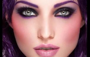 Lien permanent vers Comment porter le maquillage violet ?